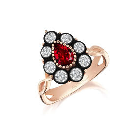 Ruby Diamond Rings